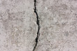 canvas print picture - grunge background of concrete,  with a big crack