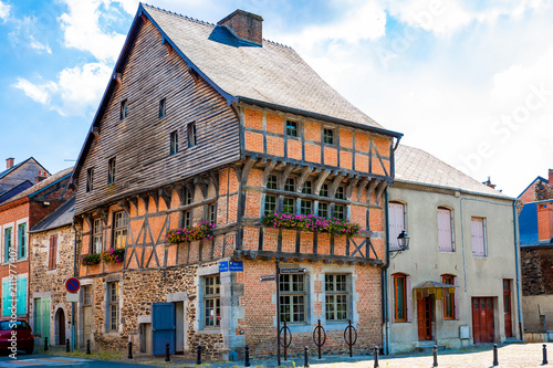 Fotobehang Artistiek mon. The historic Spanish House in Revin, French Ardennes, Region Grand Est, Champagne-Ardennes, France, built 16th century