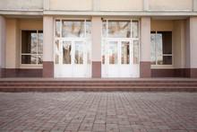 Facade Of The School Building