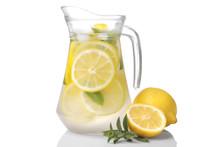 Homemade Lemonade With Mint An...