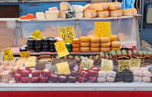 Cheese Shop In Amsterdam Market