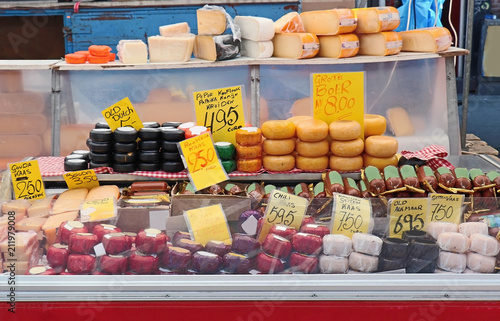 Photo  Cheese shop in Amsterdam market