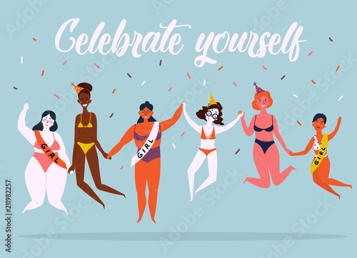 Fotografía  Celebrate yoursel and be good to yourself greeting card