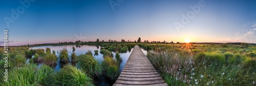 Hohes Venn - Sonnenaufgang Panorama Fototapeta