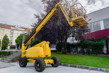 Yellow Aerial Platform On The ...