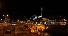 Ura E Gurit Old Stone Bridge In Prizren, Kosovo.