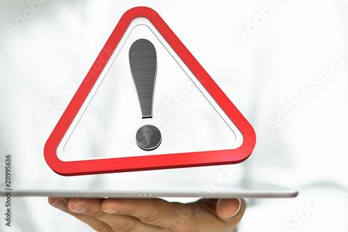Fotografie, Obraz  warning
