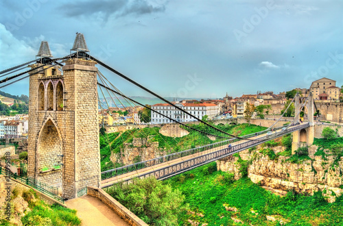 Tuinposter Algerije Sidi M'Cid Bridge across the Rhummel River in Constantine, Algeria