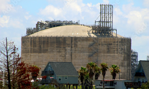 Ammonia storage facility Canvas Print
