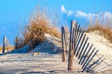 Fence In Dunes