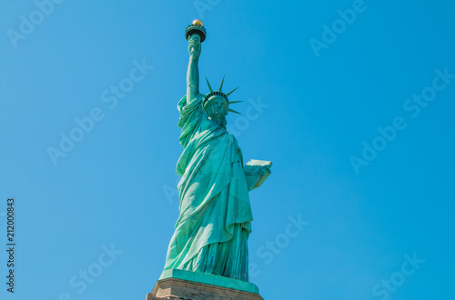 Fotografie, Obraz  The statue of liberty in New York Harbor.
