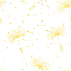 Fototapeta Minimalistyczny dandelion seamless pattern. delicate soft floral pattern. geometrical pattern in pastel colors.
