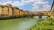 Ponte Vecchio the famous arch bridge in Florence, Italy