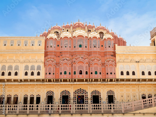 Foto  Hawa Mahal, the Palace of Winds, Jaipur, Rajasthan, India