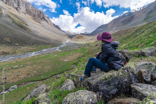 Solo Female Traveler in Chitkul Village, Sangla Valley in Himachal Pradesh