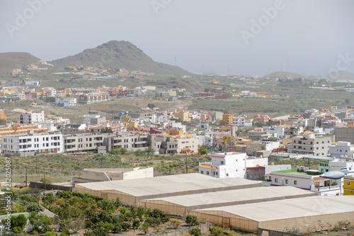 Fotografía  Photo Picture Image of colonial modern buildings in La Camella Los Cristianos Te