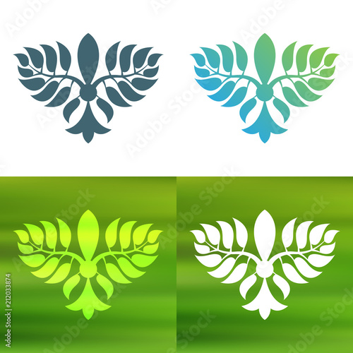 Fotografia, Obraz  Abstract foliate decoration. Flower symbol.