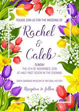 Wedding Invitation With Spring...