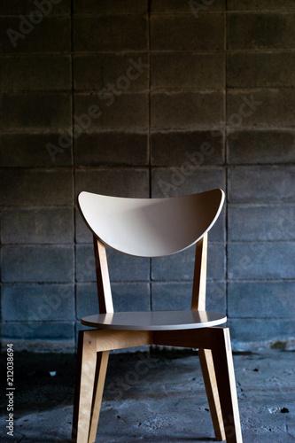 A blank white chair Canvas Print