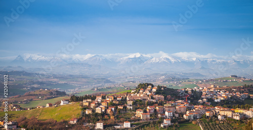 Staande foto Europa Panoramic landscape, Italian countryside