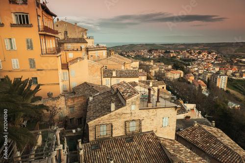 Staande foto Europa Cityscape of Fermo, old Italian town