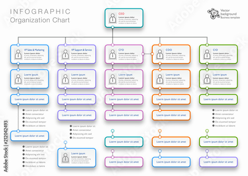 Fotografía  Organization Chart #Vector Graphics