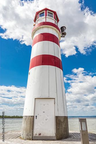 Foto op Aluminium Vuurtoren Lighthouse on Neusiedler See, Austria