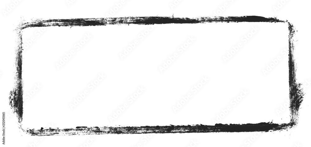 Fototapety, obrazy: Unordentlicher gemalter Rahmen schwarz