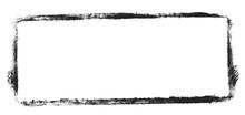 Unordentlicher Gemalter Rahmen Schwarz