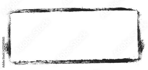 Fotografie, Obraz Unordentlicher gemalter Rahmen schwarz