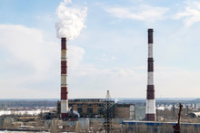 Factory Chimneys Pollution. In...