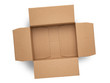 canvas print picture - empty cardboard box on top isolated