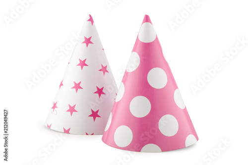 Party hat isolated on the white background