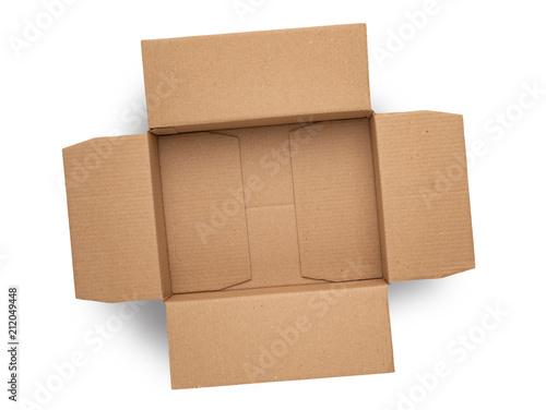 Obraz empty cardboard box on top isolated - fototapety do salonu