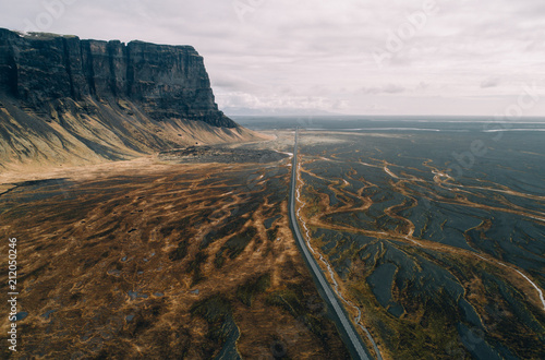 Fotobehang Europese Plekken Icelandic panoramas, aerial view on the lands