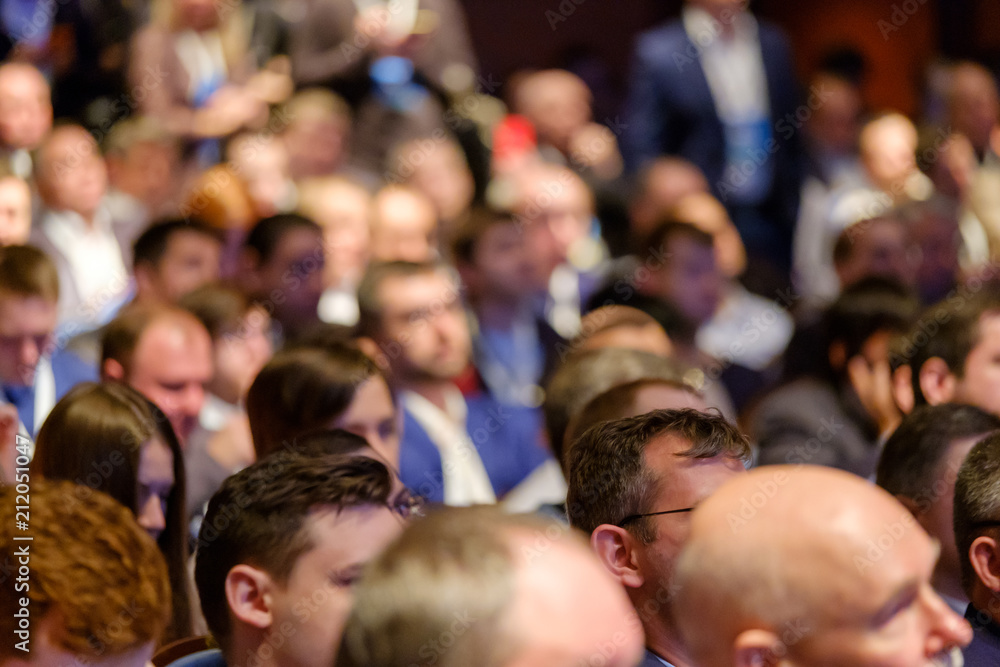 Fototapety, obrazy: People attend business conference in the congress hall