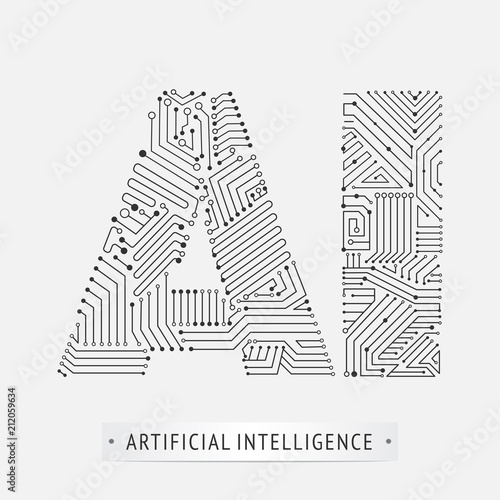 artificial intelligence icon design.