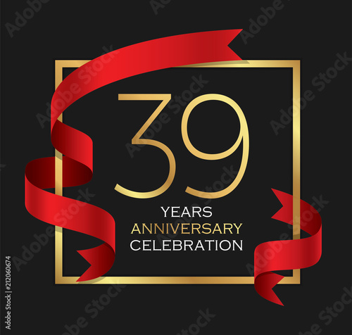Poster  39th years anniversary celebration background