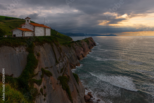 Foto op Aluminium Historisch geb. Chapel of San Telmo, Zumaia, Basque Country, Spain