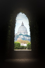 View Of St. Peter's Cathedral Through The Keyhole