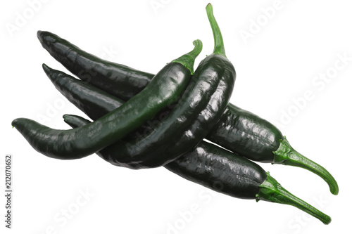 Photo sur Toile Hot chili Peppers Chilaca Pasilla chile peppers, paths, top