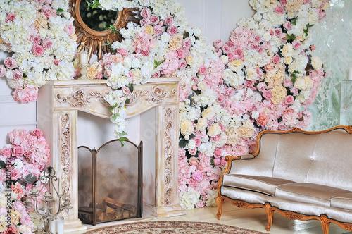 Fotografía  Luxury stylish interior of apartment.