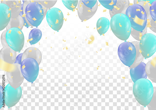 Photo  Vector party balloons illustration isolated on white background