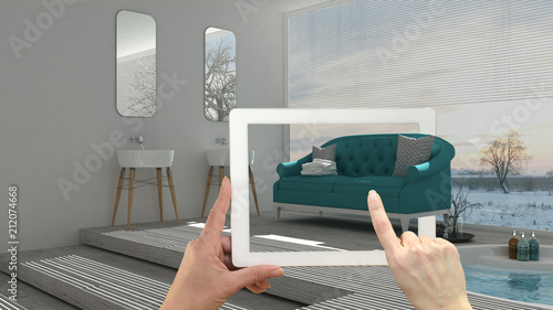 Augmented reality concept Canvas Print