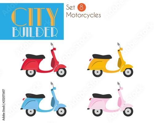 City Builder Set 8: Motorcycles Slika na platnu