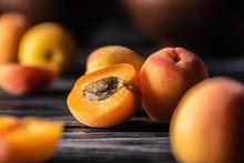 Selective Focus Of Ripe Aprico...