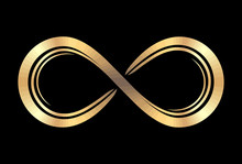 Cold Infinity Symbol On A Blac...