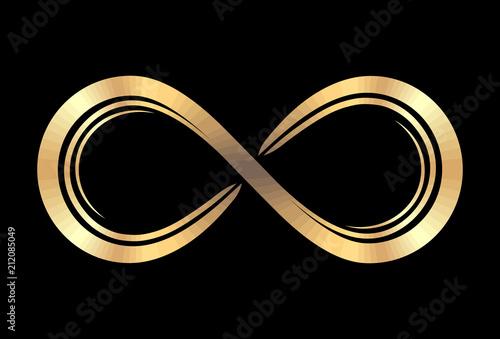 Fotografie, Obraz Cold infinity symbol on a black background for your design or logo