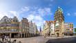 canvas print picture - Prinzipalmarkt, Stadthausturm, Münster