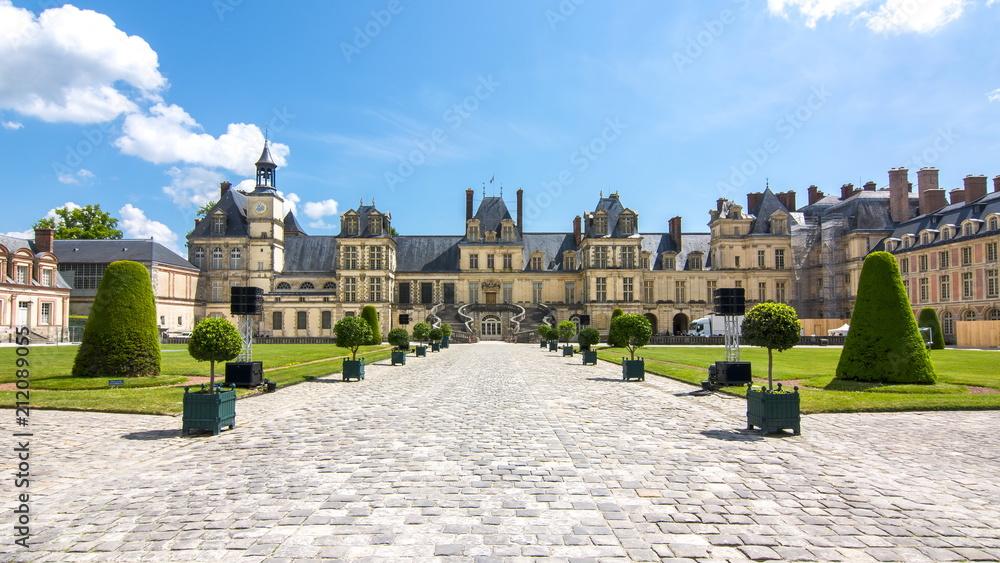 Fototapety, obrazy: Fontainebleau palace (Chateau de Fontainebleau), France